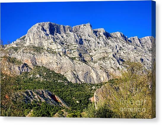 Victoire Canvas Print - Montagne Sainte Victoire by Olivier Le Queinec
