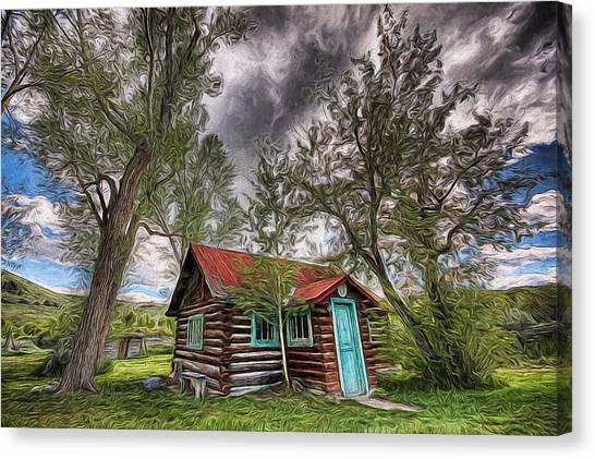 Montana Cabin Canvas Print