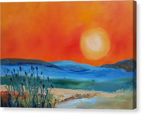 Montana Firery Sunset             49 Canvas Print