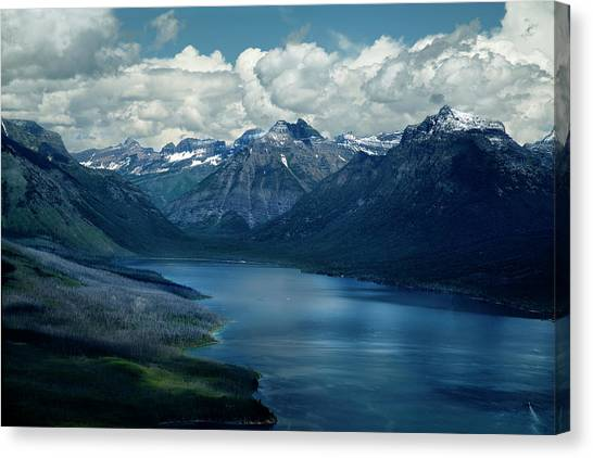 Montana Mountain Vista And Lake Canvas Print
