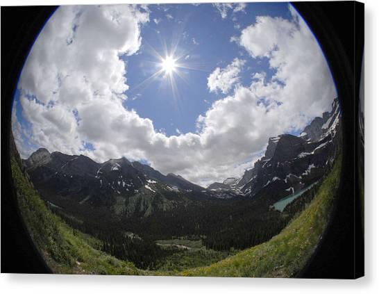 Montana Sun Burst Canvas Print