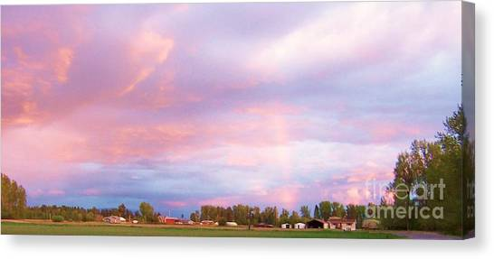 Montana Sunset 1 Canvas Print