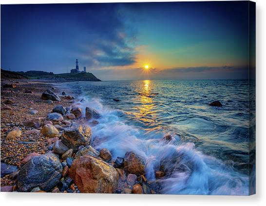 Atlantic Islands Canvas Print - Montauk Sunrise by Rick Berk