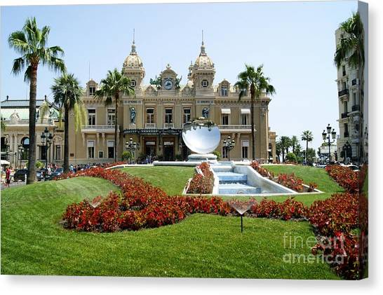 Monte Carlo Casino Canvas Print