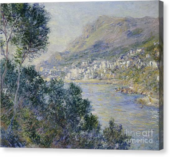Mediterranean Landscape Canvas Print - Monte Carlo by Claude Monet