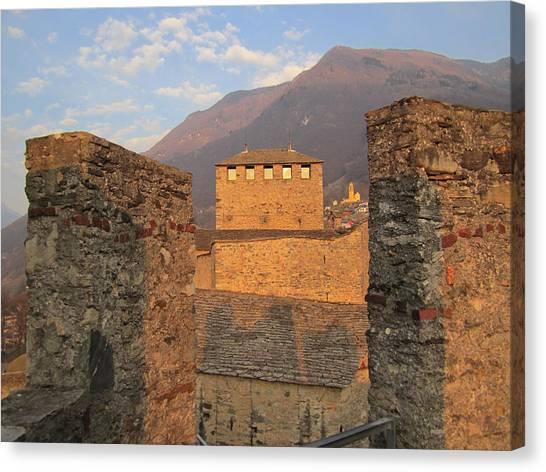 Landscape Travelpics Canvas Print - Montebello - Bellinzona, Switzerland by Travel Pics