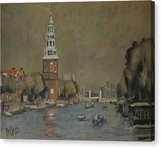 Canvas Print - Montelbaanstoren Amsterdam by Nop Briex