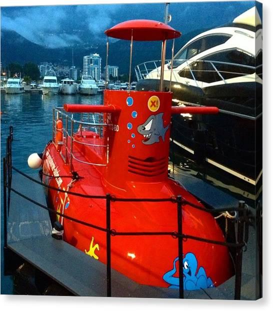 Submarine Canvas Print - #montenegro #crnagora #budva #marina by Mikhail Chistyakov