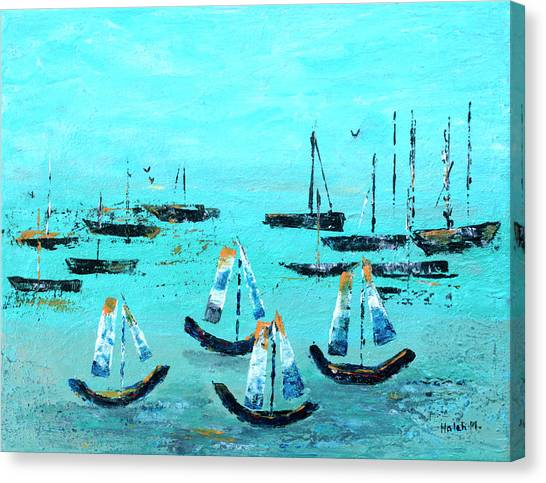 Monterey Boats Canvas Print