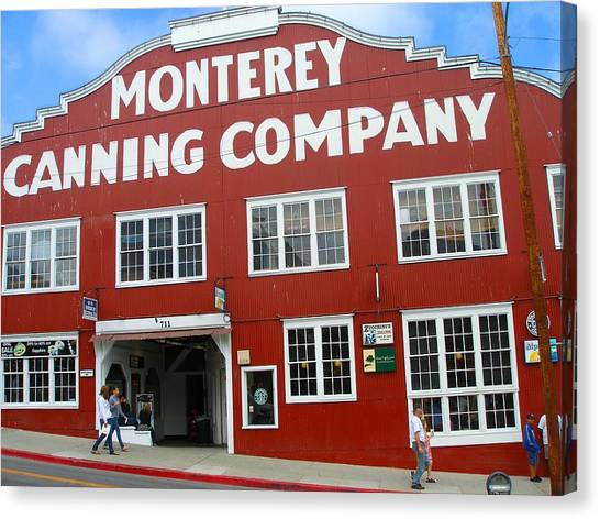 Monterey Canning Company Canvas Print by Candace Garcia