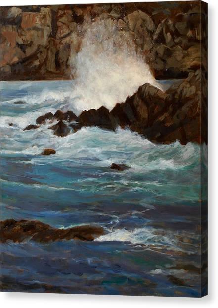 Monterey Wave #1 Canvas Print