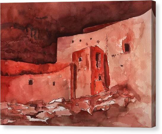 Montezuma's Castle Canvas Print