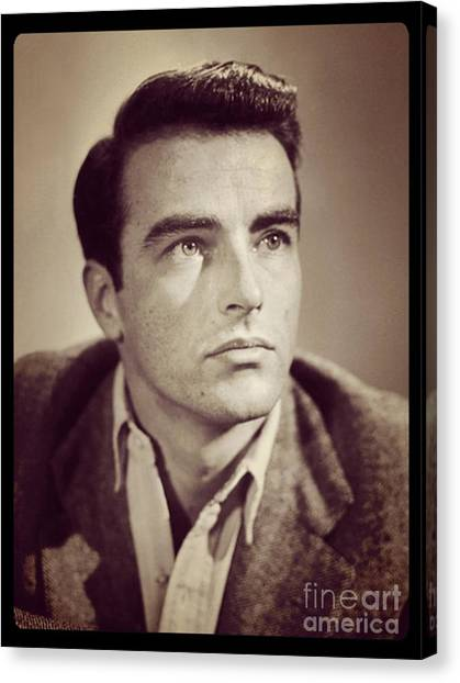 Stardom Canvas Print - Montgomery Clift Vintage Hollywood Actor by Esoterica Art Agency