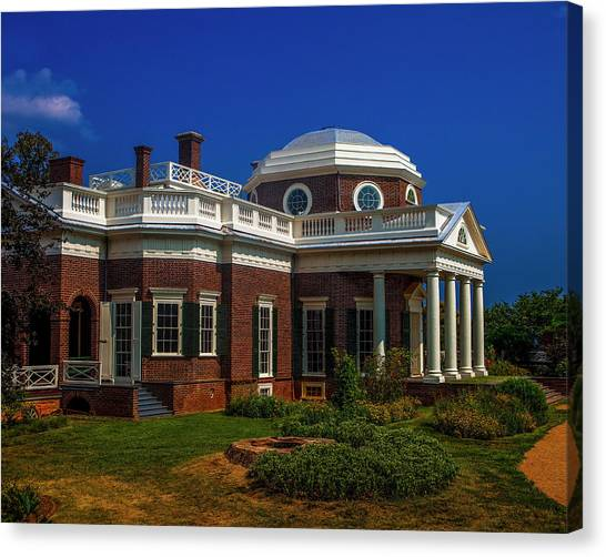 Thomas Jefferson Canvas Print - Monticello by Andrew Soundarajan