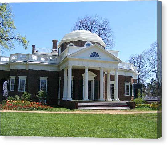 Monticello Canvas Print by James and Vickie Rankin