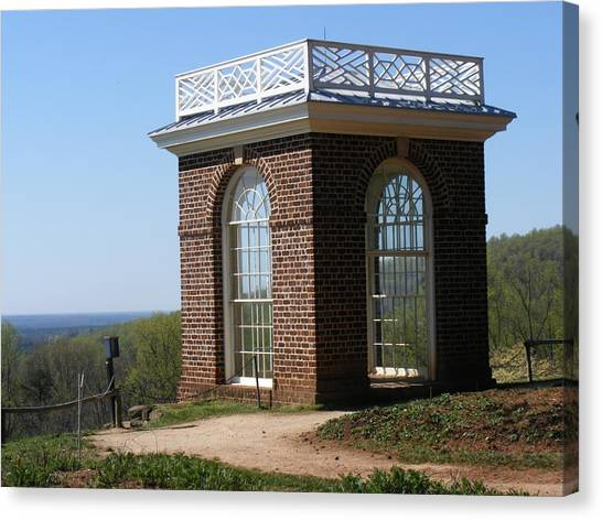 Monticello's Overlook Canvas Print by James and Vickie Rankin