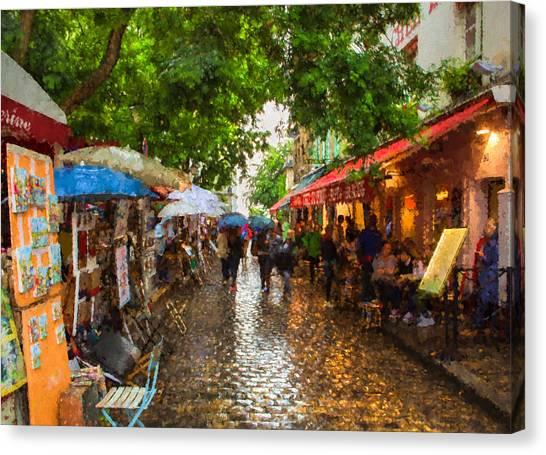 Montmartre Art Market, Paris Canvas Print