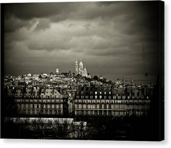 Montmartre Black And White Canvas Print
