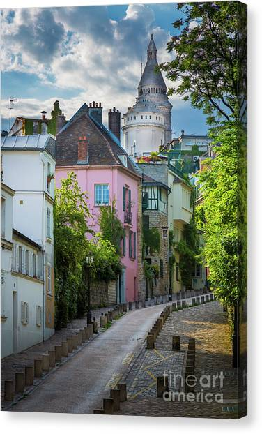 Europa Canvas Print - Montmartre Hill by Inge Johnsson
