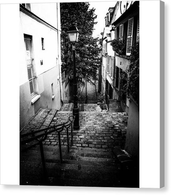 French Canvas Print - Montmartre Steps by Georgia Fowler