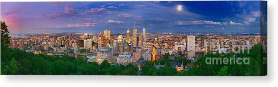 Quebec Canvas Print - Montreal At Night by Laurent Lucuix