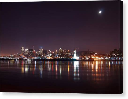 Montreal At Night Canvas Print by Martin Rochefort