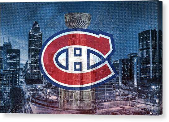 Montreal Canadiens Canvas Print - Montreal Canadiens City by Nicholas Legault