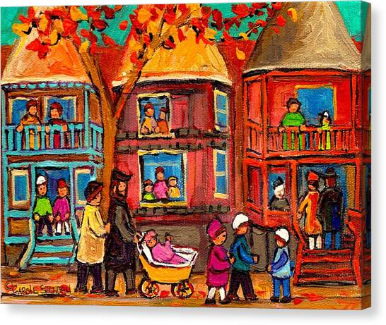 China Town Canvas Print - Montreal Early Autumn by Carole Spandau