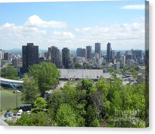Montreal View From Mcgill Residences Canvas Print