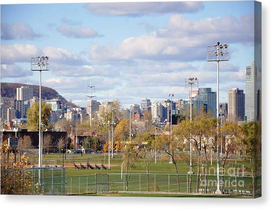 Montreal View From Verdun Canvas Print