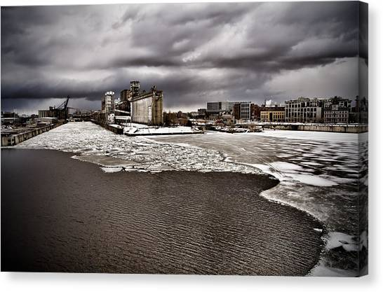 Montreal's Old Port Canvas Print by Michel Filion