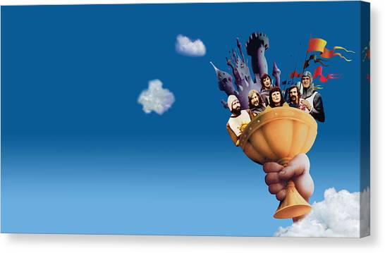 Pythons Canvas Print - Monty Python And The Holy Grail by Maye Loeser