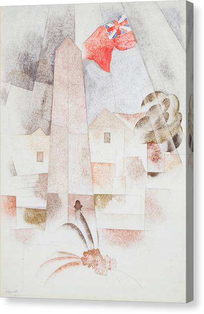 Precisionism Canvas Print - Monument, Bermuda by Charles Demuth
