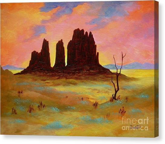 Monument Canvas Print by Shasta Eone