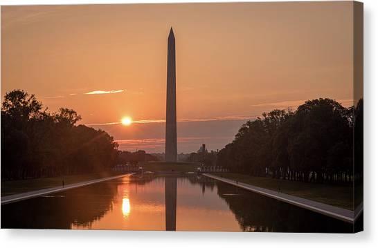 Monument Sunrise Canvas Print by Michael Donahue