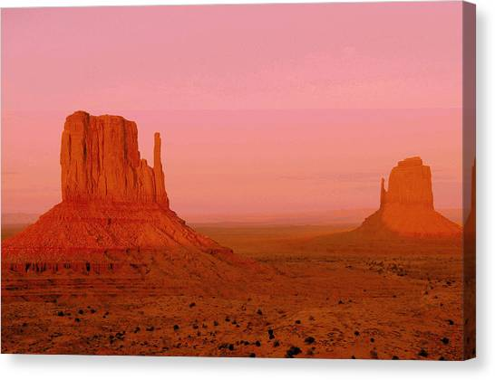 Monument Valley  --  The Mittens  Canvas Print