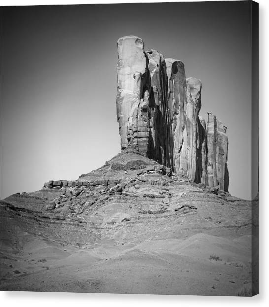 Monument Valley Camel Butte Black And White Canvas Print by Melanie Viola