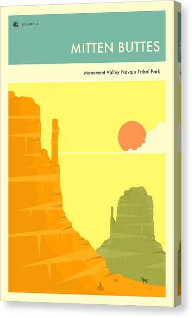 Monument Canvas Print - Monument Valley by Jazzberry Blue