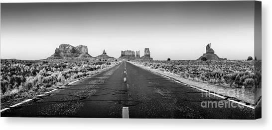 Black Rock Desert Canvas Print - Freedom Bw by Az Jackson