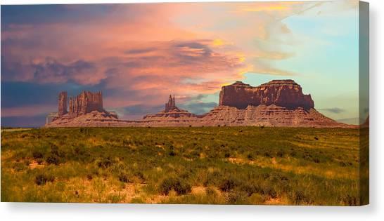 Monument Valley Landscape Vista Canvas Print