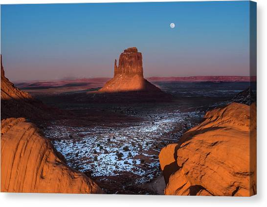 Monument Canvas Print - Monument Valley by Larry Marshall