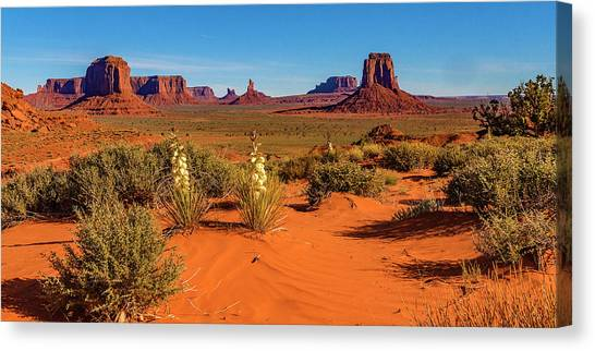 Canvas Print featuring the photograph Monument Valley by Norman Hall