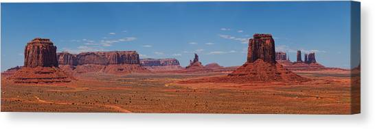 Monument Valley Panoramic Canvas Print