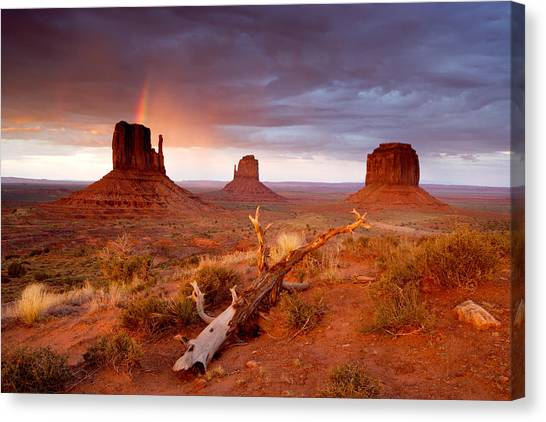 Monument Valley Rainbow Canvas Print by Eric Foltz