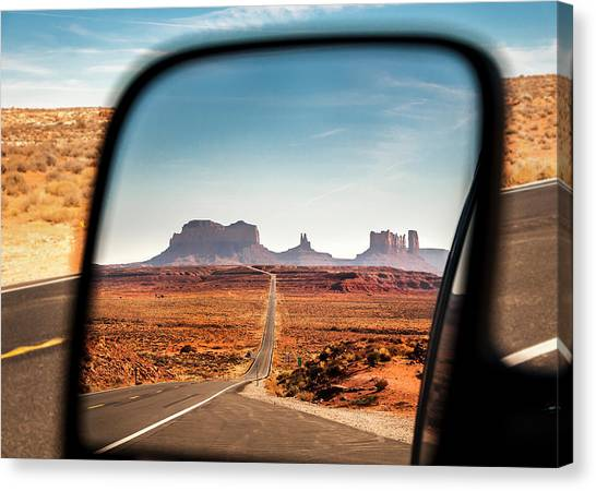 Monument Valley Rearview Mirror Canvas Print