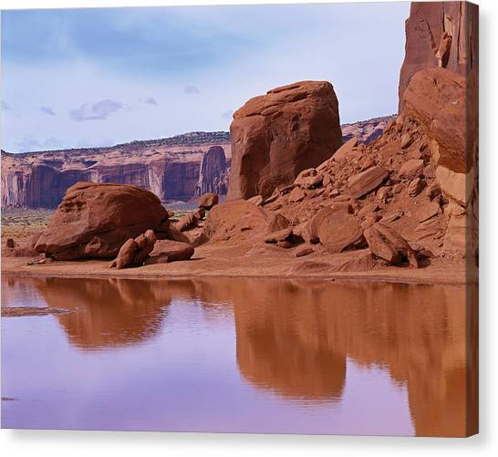 Monument Valley Reflection Canvas Print