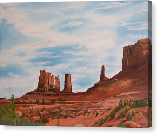 Monument Valley Canvas Print by Robert Silvera