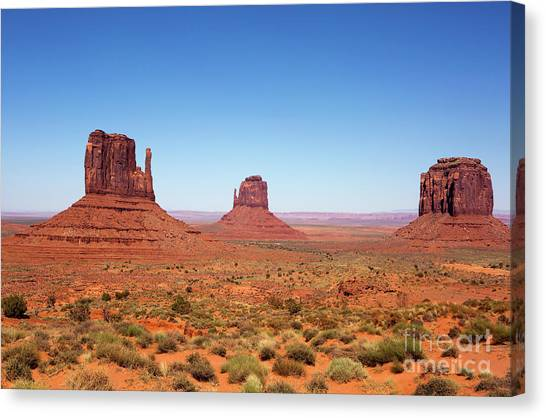 Monument Valley Utah The Mittens Canvas Print