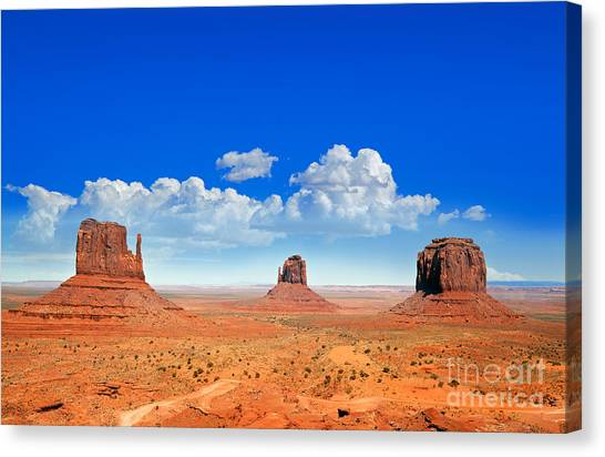 Arid Canvas Print - Monument Vally Buttes by Jane Rix