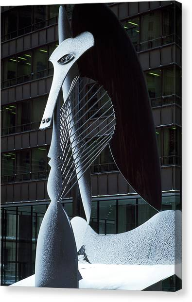 Pablo Picasso Canvas Print - Monumental Sculpture In Front by Panoramic Images